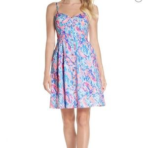 New Lilly Pulitzer Easton Dress Fit/Flare sz:0